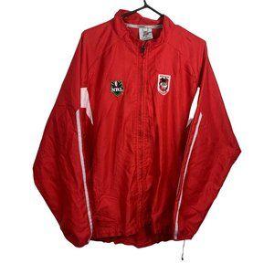 St George Dragons Vintage NRL Tracksuit Jacket Mens Size M Red